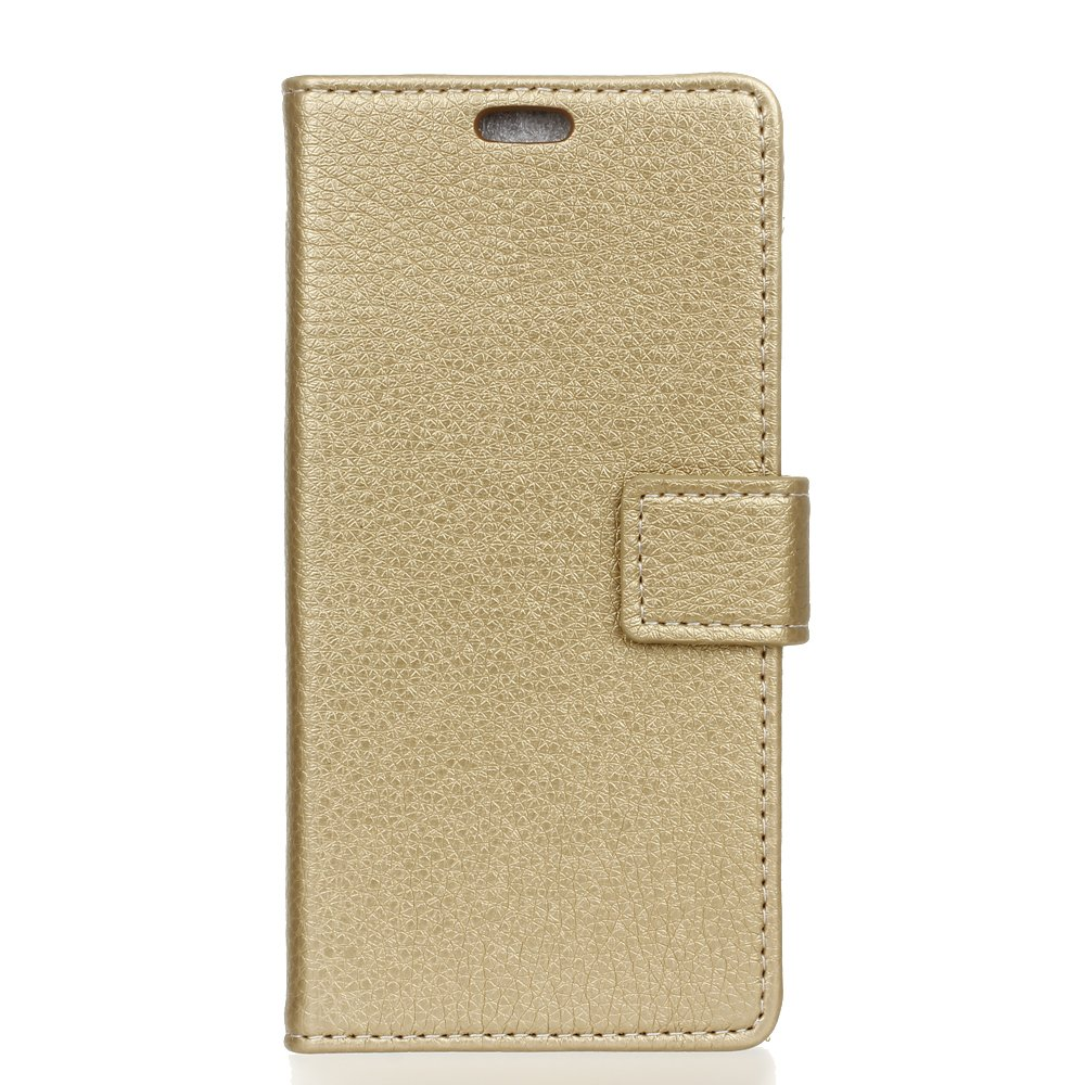leiai Wiko View 2 Go Coque, Modèle Litchi Magnetic Clasp PU Cuir Flip Housse Étui Cover Case Protection Mince à Rabat Flip Antichoc Cover avec Porte-Carte Stand pour Wiko View 2 Go (Marron)