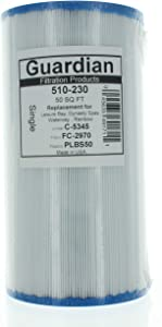 2 Guardian Pool Spa Filter Replaces Unicel C-5345-FC-2970-PlbS50-Rainbow Waterway Plastics