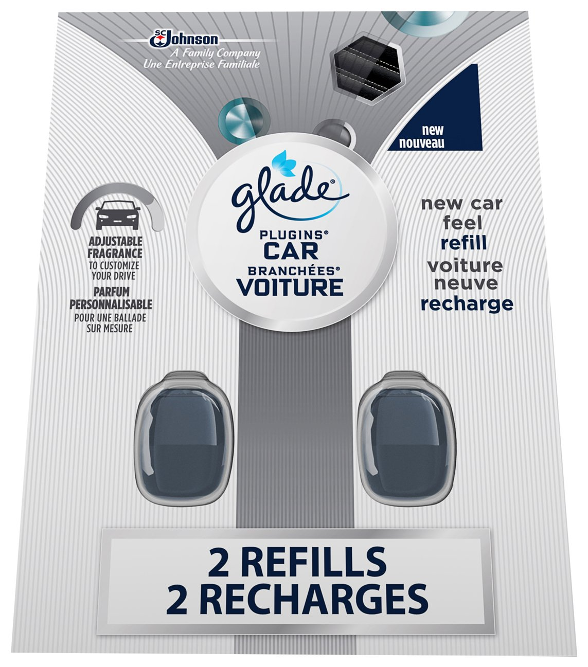 Glade PlugIns Scented Car Refill, New Car Scent - 2 Count SC Johnson 302108