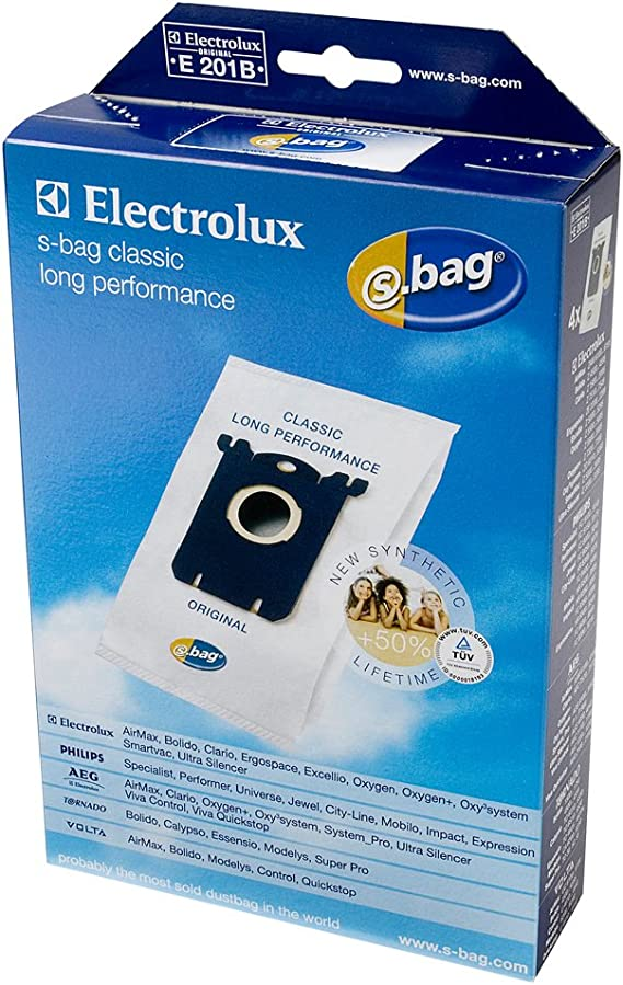 Electrolux E201B Sac Aspirateur un paquet de 4 sacs