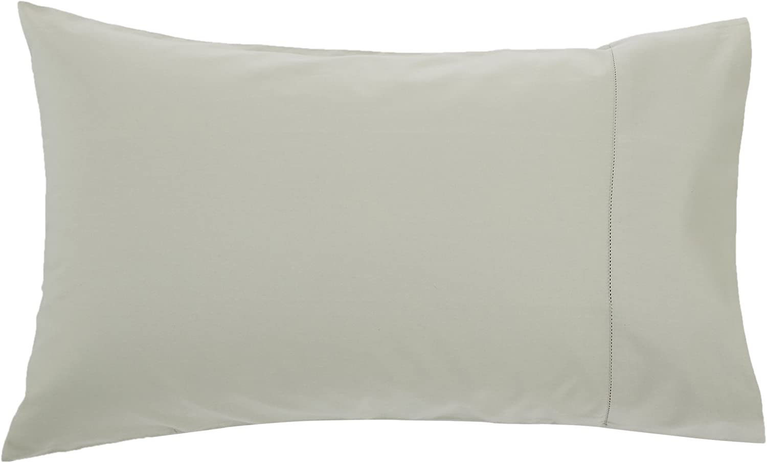 King Sage Set of 2 Pinzon 400 Thread Count Egyptian Cotton Sateen Hemstitch Pillow Cases