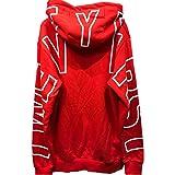 ビーロマンス パーカー ストリート 長袖 フード付き 大きいサイズ ロゴ 赤×白 かっこいい [並行輸入品]