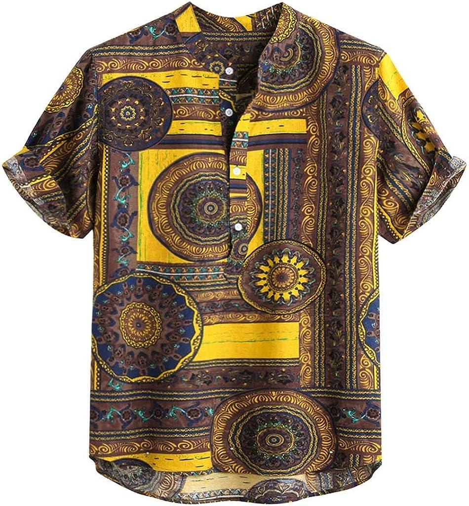 Dragon868 Camisas Hawaiana Hombre Manga Corta Estampada Vocación ...