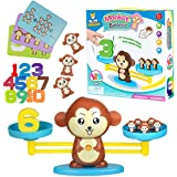 Play Brainy Balancing Monkey Math Game – Fun & Educational Monkey Scale Math Toy – Cute Numbers Counting Game for Girls…