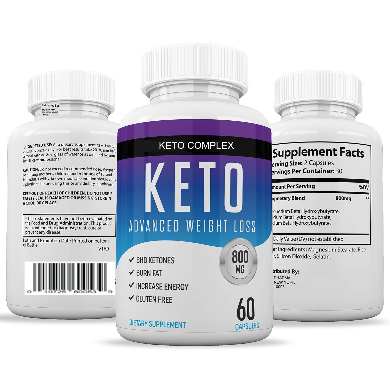 Keto Diet Pills for Men and Women - Helps Weight Loss & Burns Fat Quicker - Get Fit, Get Energized and Clear Your Mind - 60 Easy-Swallow Capsules Per Bottle for Keto Weight Loss by Chi Nutrition