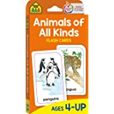 School Zone - Animals of All Kinds Flash Cards - Ages 4 and Up, Preschool, Kindergarten, Animal Names & Classes, Animal Facts