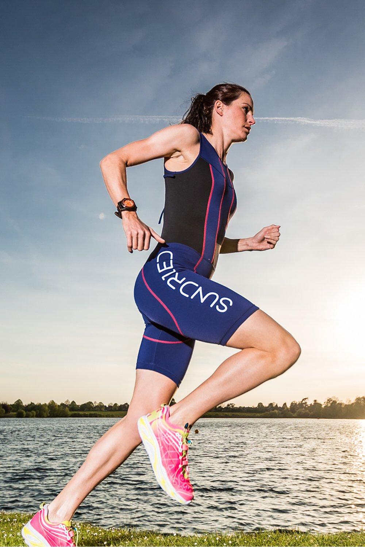 Sundried Bañador con Acolchado de Triatlón para Mujeres Mono de Compresión para Duatlón Running Natación Ciclismo