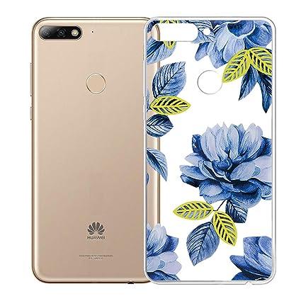 LJSM Funda Huawei Y7 2018 Carcasa Flexible Ultra Slim Transparente Crystal Clear Soft Silicona TPU Suave Caso Case Shell Cover para Huawei Y7 2018 ...