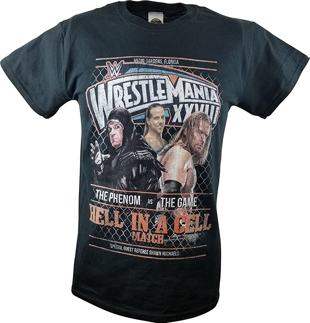 Fan Apparel & Souvenirs Sports Mem, Cards & Fan Shop Undertaker Classic TX Logo Mens WWE T-shirt