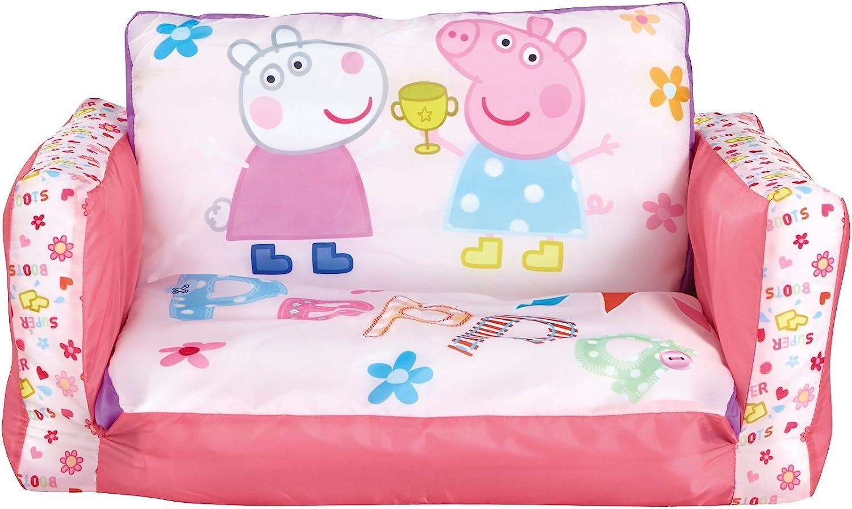 SOFÁ INFANTIL PEPPA PIG 2 EN 1. SOFÁ Y TUMBONA HINCHABLE. 286PIP04E