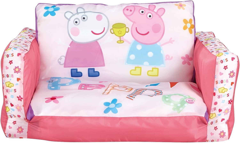 SOFÁ INFANTIL PEPPA PIG 2 EN 1. SOFÁ Y TUMBONA HINCHABLE ...