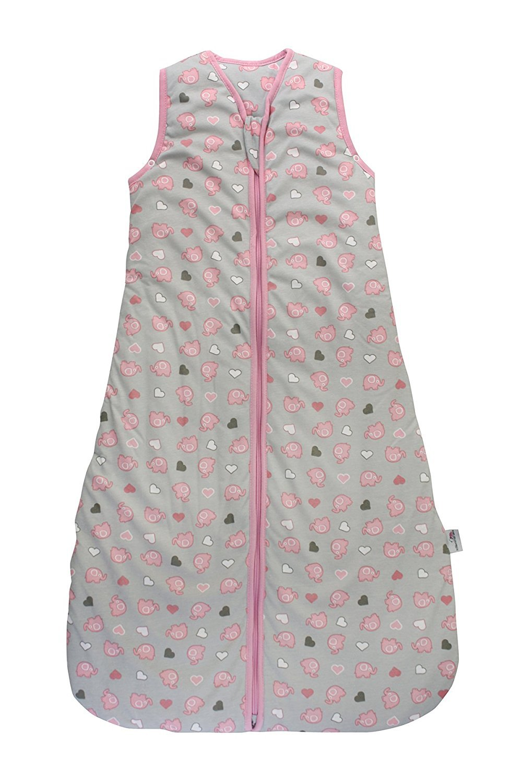 Slumbersac Baby Sleeping Bag 2.5 Tog - Simply Pink Elephant - 6-18 months/90 cm by SlumberSac