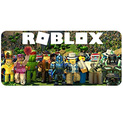R-Roblox World Game Mouse Pad Anti-Slip Water Resistant Rubber Base  Stitched Edges Extended Desktop Mat 15 7 35 4 Inchs