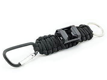 Carabiner Emergency Knot Rope Keychain Bottle Opener Keyring Key Chain Ring