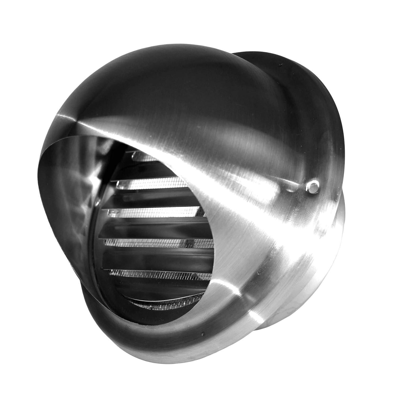 Klimapartner KWG 100 - Campana de ventilació n redonda de acero inoxidable