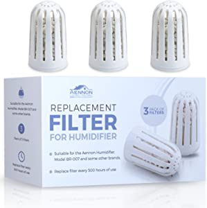 Aennon 3 Replacement Filters Cool Mist Ultrasonic Humidifiers - Works for Some Other Brands As Well (3-Pack Humidifier Filter)