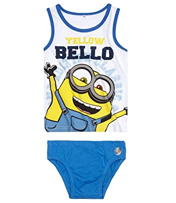 2a861e472022f Minions Despicable Me Boys Underwear-set 2 pieces - blue: Amazon.co.uk:  Clothing