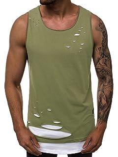 Tanktop T-Shirt Muskelshirt Achselshirt Tee Ärmellos Herren BOLF 3C3 Kapuze