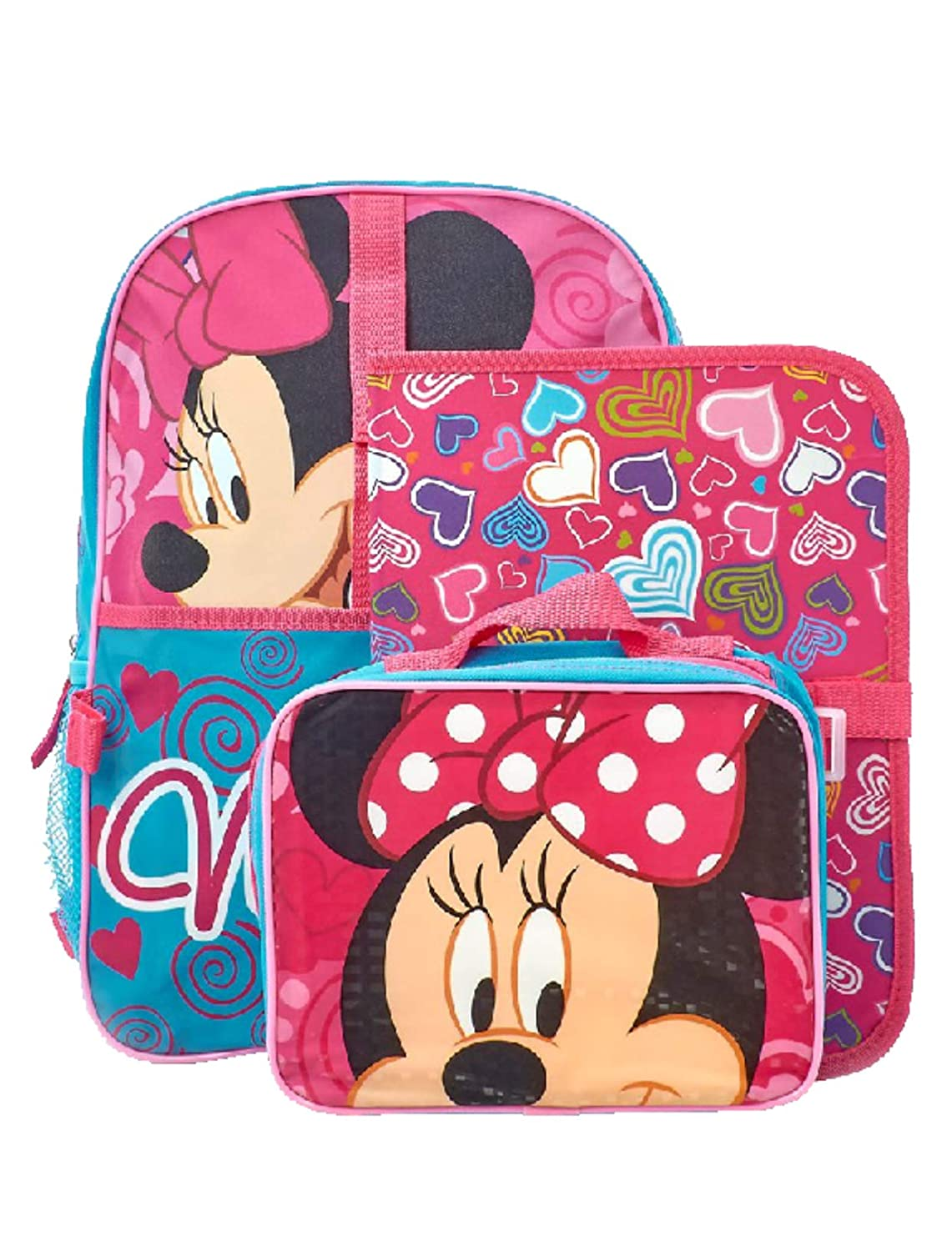 ec5039b6bf4 Amazon.com  Disney Minnie Mouse Backpack Lunch Bag   Folder 3-Piece Set   Toys   Games