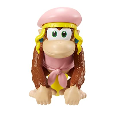 "World of Nintendo 2.5"" Dixie Kong Action Figure: Toys & Games"