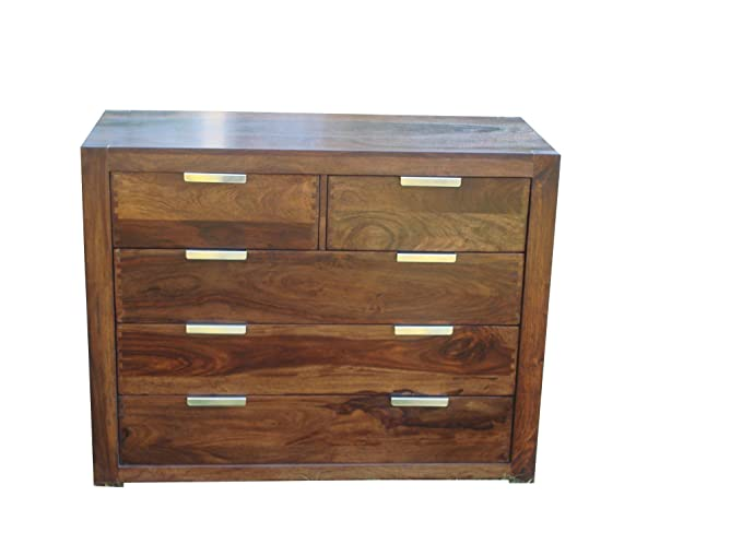 Ringabell Altavista Sturdy Chest Of Drawer (Teak Finish)