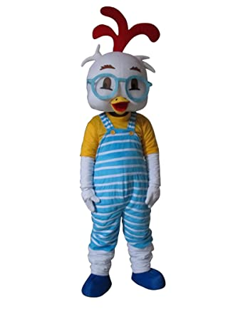 Sinoocean Chicken Little Adult Halloween Mascot Costume Fancy Dress Outfit  sc 1 st  Amazon.com : chicken little halloween costumes  - Germanpascual.Com