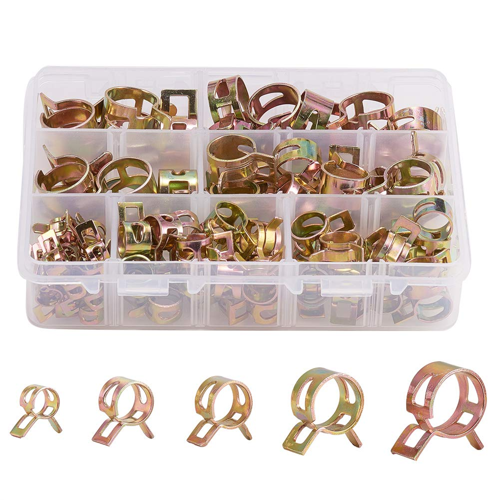 Fastener Tube Clamps 65Mn spring steel Clip Fuel Assortment Line Hose Pipe