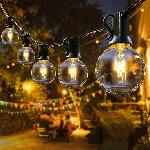 SOLAR Lichterkette Garten Terrasse Party Balkon Glühbirne Solarbirne Außenlampe
