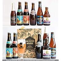 Pack bière Découverte BELGIQUE - 6 bières belges + 1 guide de dégustation - Spécial Cadeau Fête des Pères - Mix de 6 bouteilles 25cl & 33cl - Moyenne ratebeer +80/100 - Une Petite Mousse