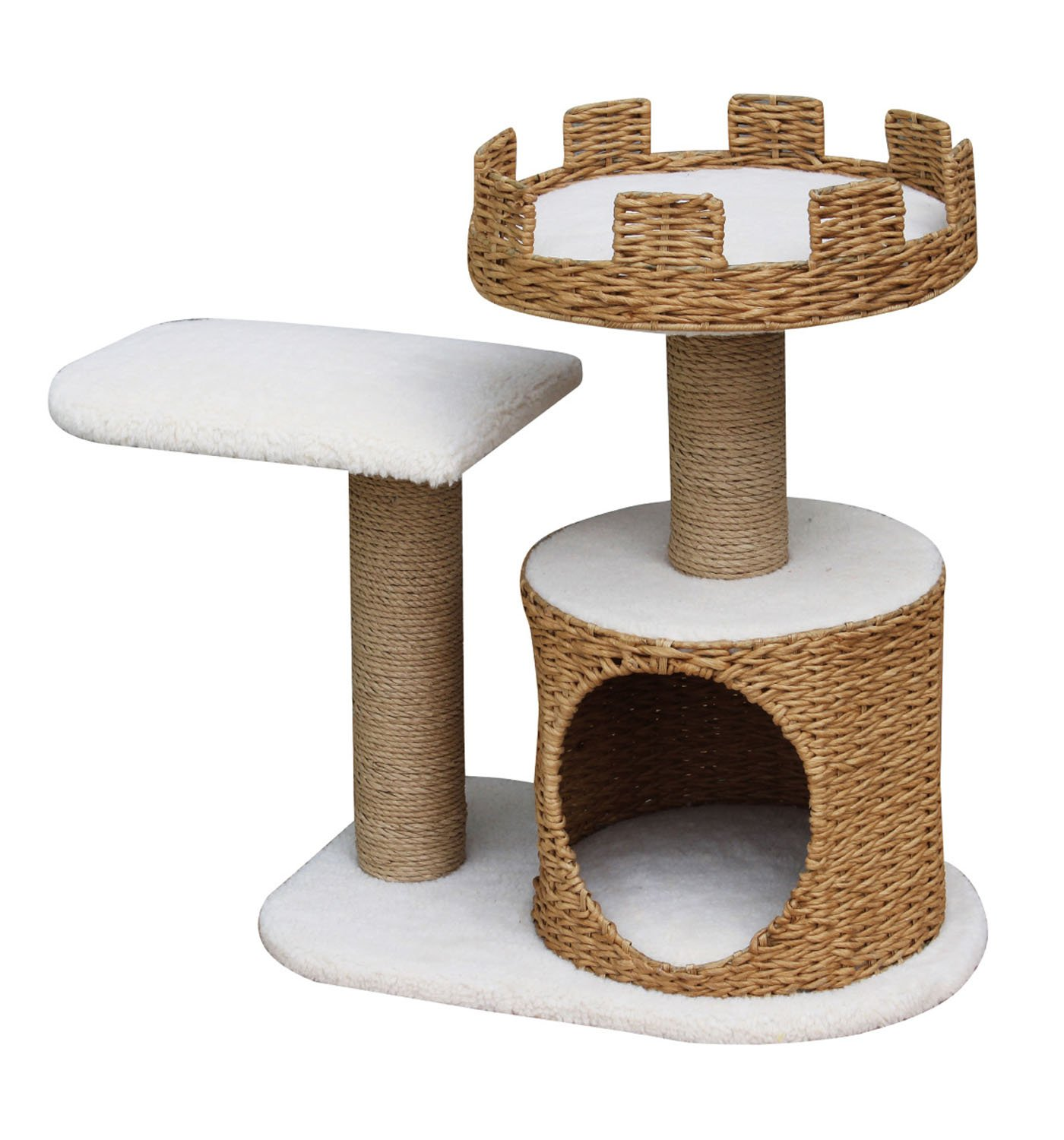 PetPals 2 Level Crown Top Style Cat Playhouse