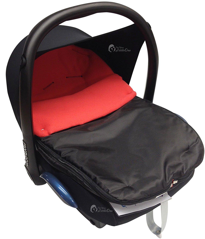 Asiento de coche para saco/Cosy Toes Compatible con Maxi Cosi Pebble Cabrio rojo