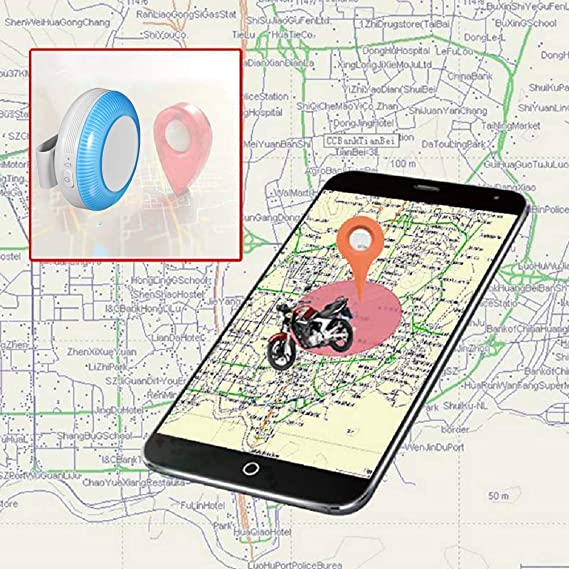 Mini Localizador GPS, GPS Tracker para Mascotas Gatos Perros/Seguimiento en Tiempo Real/Geo-Valla/Historia Ruta / IP65 Impermeable / 2 vías ...
