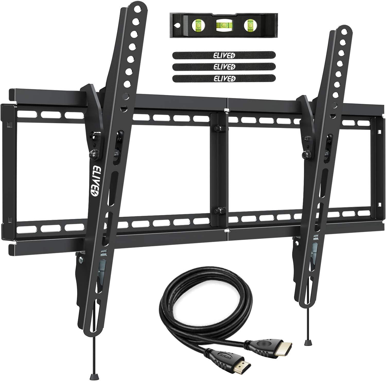 Tilt TV Wall Mount Bracket for Most 37-70 Inch LED LCD Flat/Curved TVs, TV Mount Fits 16