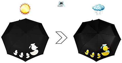 cool and quirky novelty umbrella gift with colour changing rubber duckies design