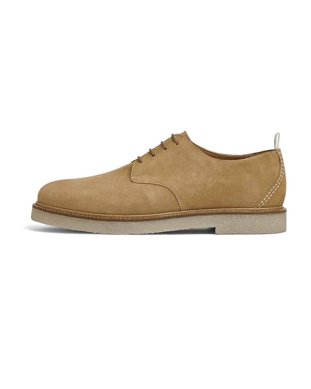 - Zara Men's Brown Leather Derby shoes 2518 002