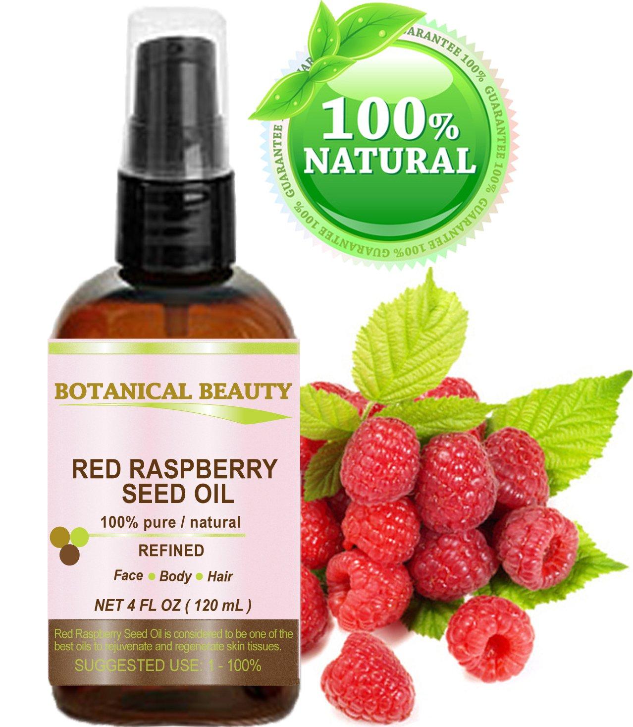 Botanical Beauty - Aceite de Semilla de Frambuesa Roja. 100% Puro / Natural / Sin Diluir / Prensado en Frío. 120ml. Para Cuidado de la Piel, Cabello, ...