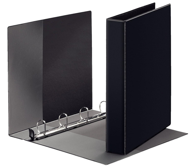 in polipropilene con 4 anelli colore: nero Leitz Premium 46030095 Raccoglitore ad anelle diametro: 40 mm formato A4