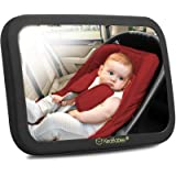 Baby Car Mirror - Safety Car Seat Mirror For Rear Facing Infant - Wide Shatterproof, Crystal Clear Car Baby Mirror - Carseat
