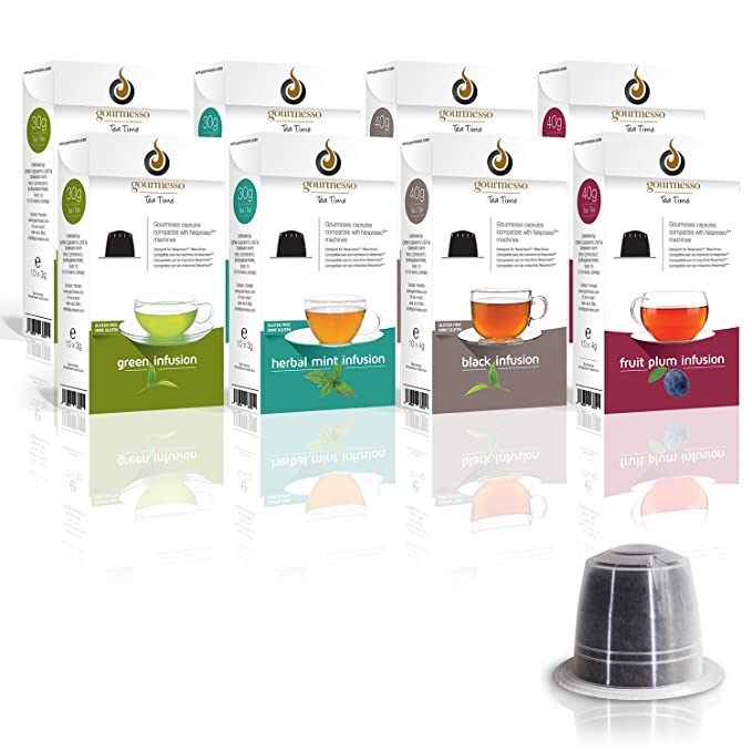 Gourmesso Infusion Bundle (80 Capsulas) - Cápsulas de café compatibles con cafetera Nespresso ®*