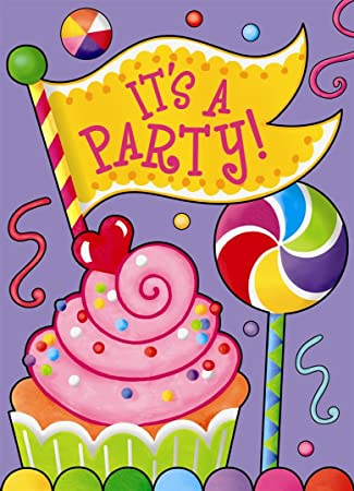 Amazon candy party invitations 8ct kitchen dining candy party invitations 8ct filmwisefo