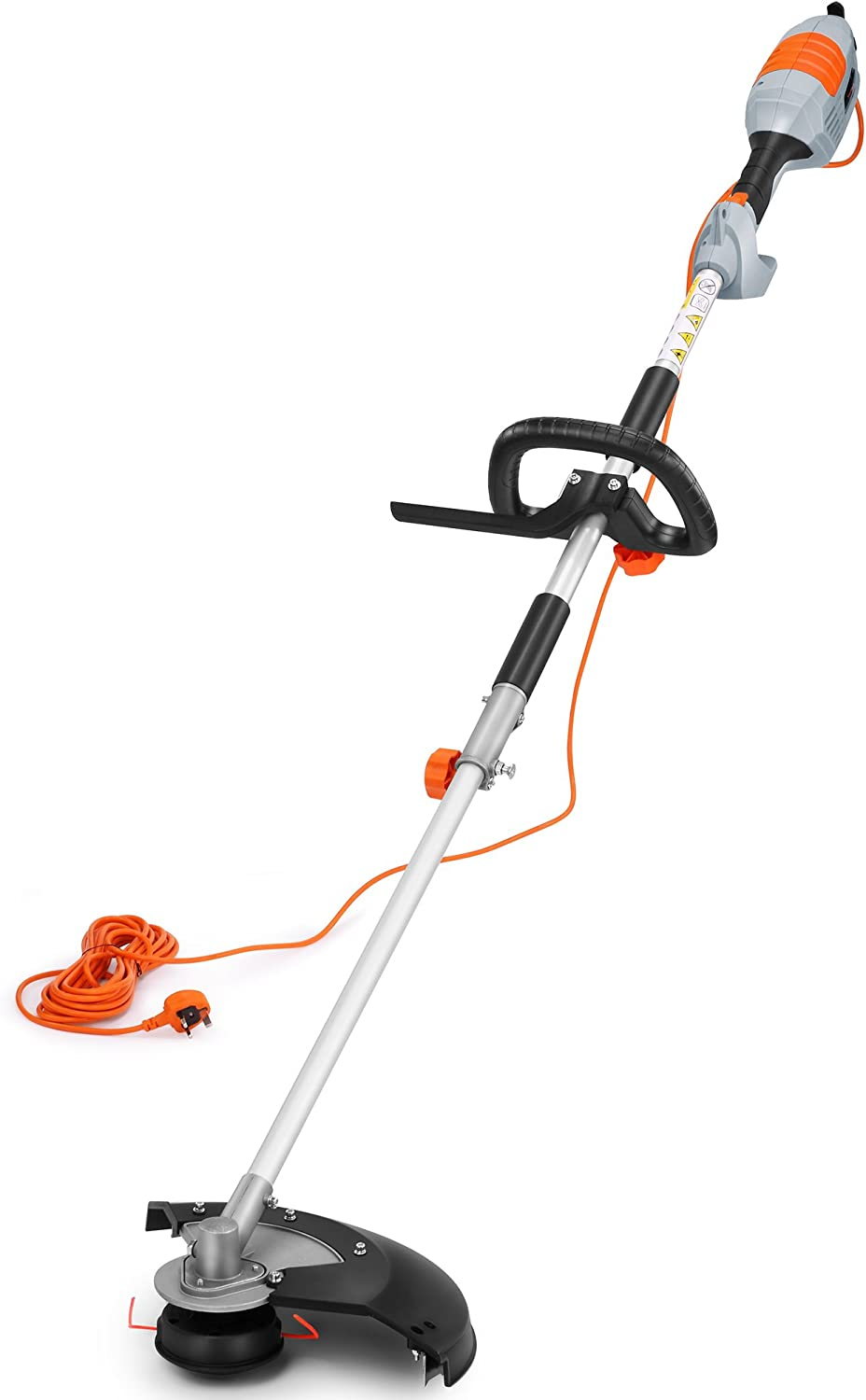 VonHaus 2 In 1 Grass Trimmer & Brush Cutter 1000W – Long 10m Cable & 380mm Max. Cutting Width