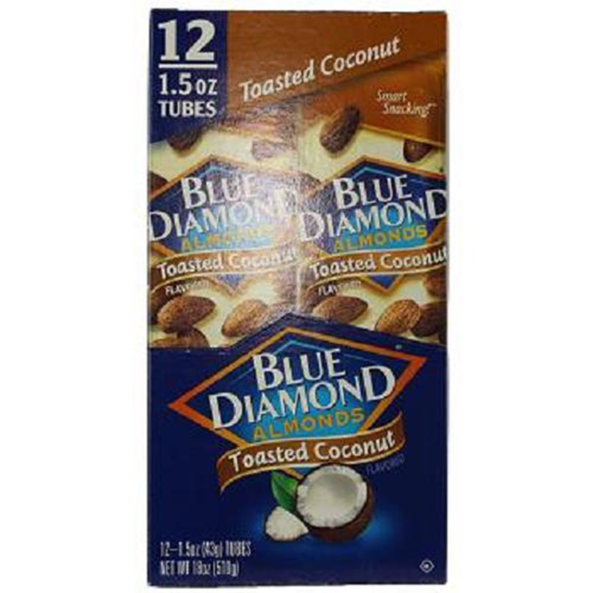 Product Of Blue Diamond, Almonds Toasted Coconut Tube, Count 12 (1.5 oz) - Nut & Dry Fruit / Grab Varieties & Flavors by Product Of Blue Diamond (Image #1)