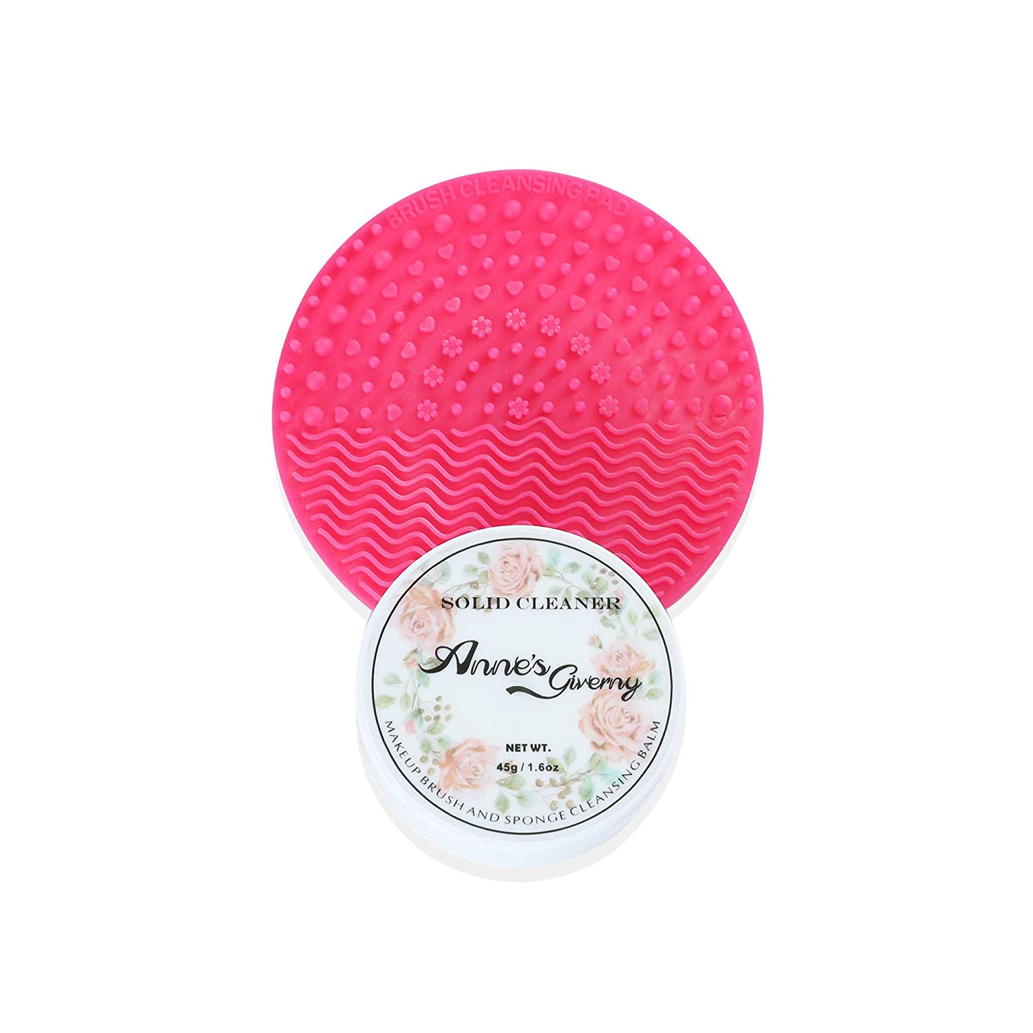 Anne's Giverny Makeup Brush Solid Cleaner Sponge Blender Cleanser (Cleaner+Pad)