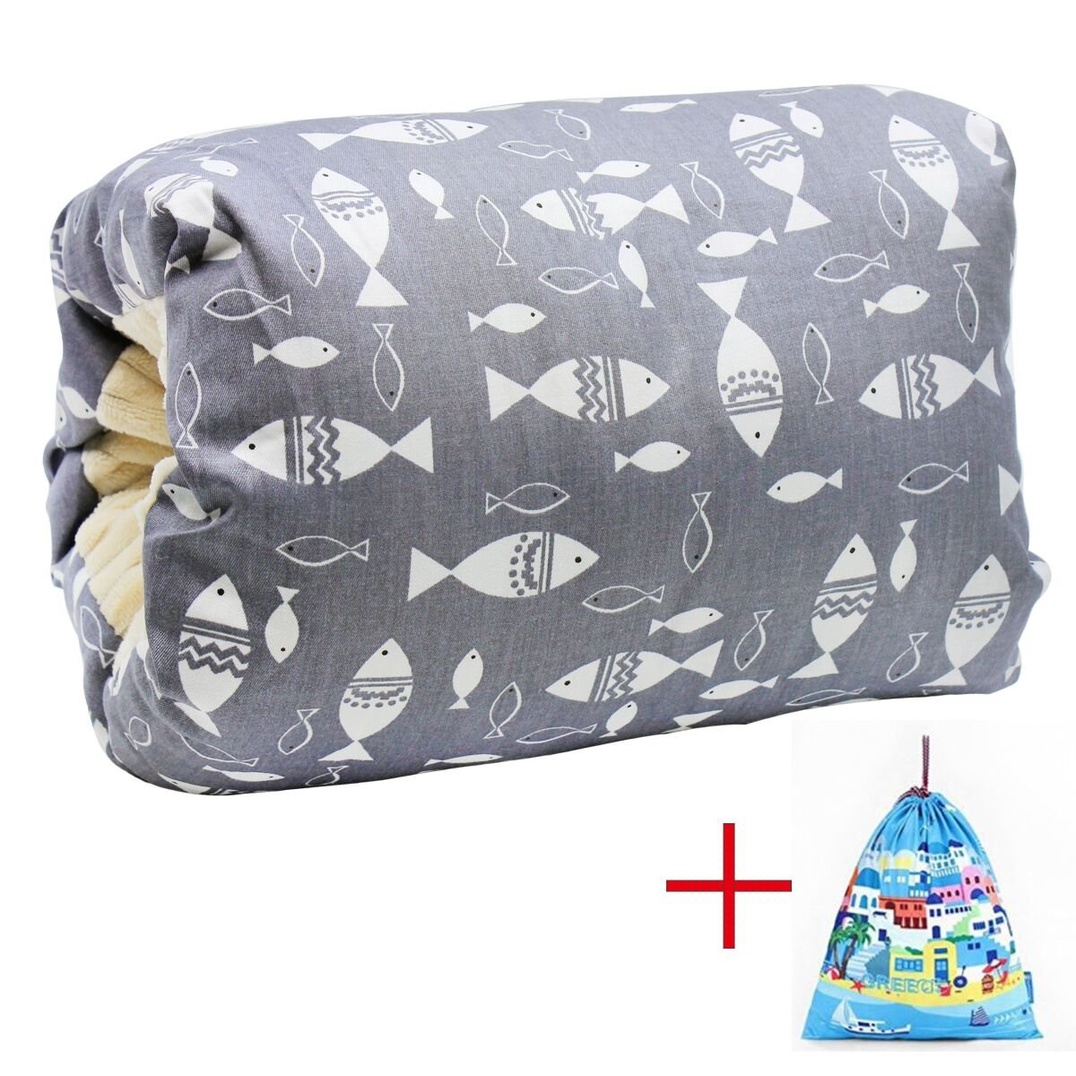 Baby Feeding Pillow, Travel Nursing Pillow Portable Arm Breastfeeding Pillow, Slip-On Arm Support for for C-Sections Mom IHClink