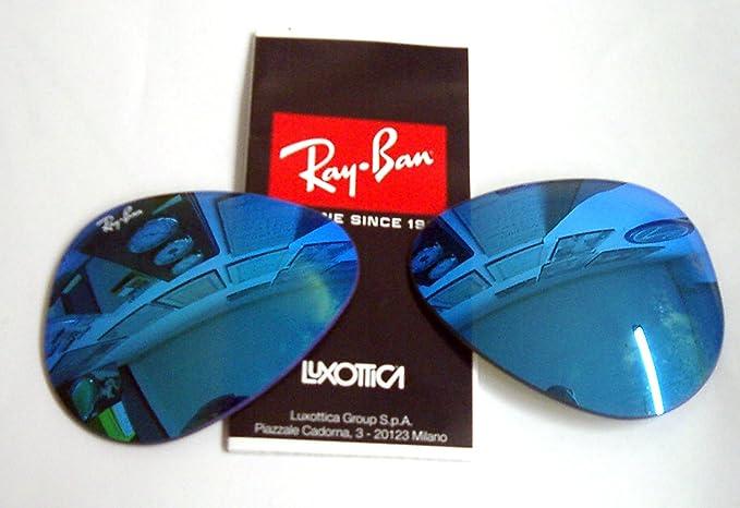 Lentes de repuesto ray ban 3025 3026 cal 62 code 17 azul efecto espejo   Amazon.es  Ropa y accesorios 9a6a28fc6e