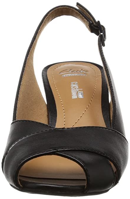 6081d73208ea Clarks Women s Brielle Kae Black Leather Fashion Sandals - 6 UK India (39.5  EU)  Buy Online at Low Prices in India - Amazon.in