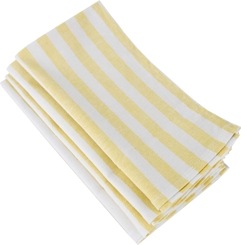 Set of 4 - N6125 - Music Notes Black White Modern Reusable Fabric Napkins Large Cloth Napkins