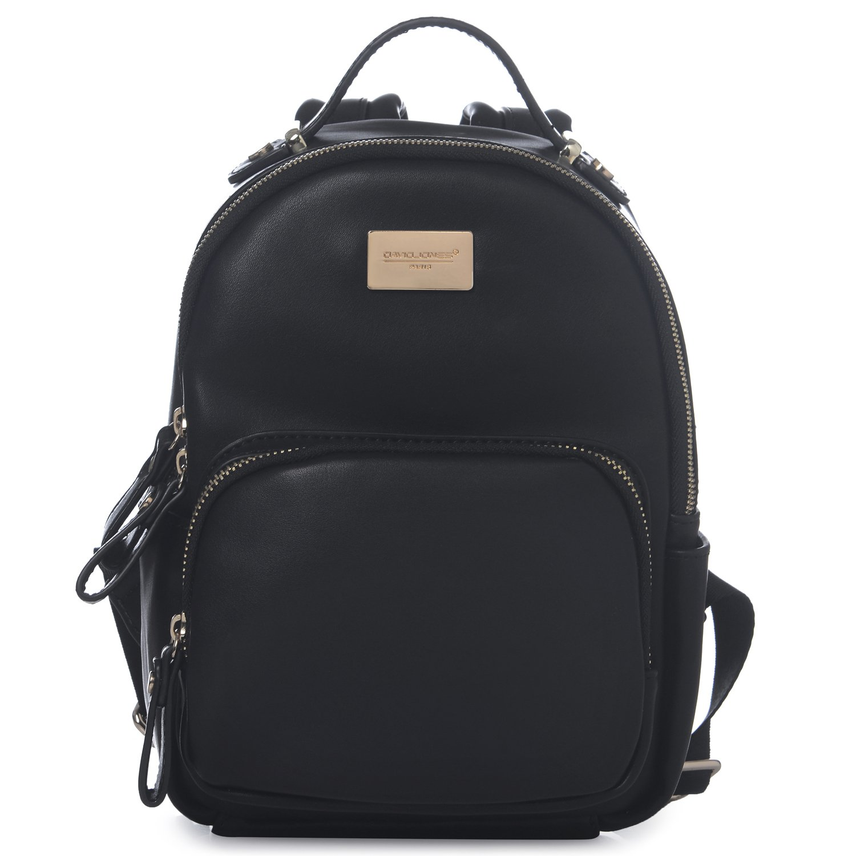 DAVID - JONES INTERNATIONAL Black Classic Girls Mini Vegan Leather Backpack Shoulder Bag for woman