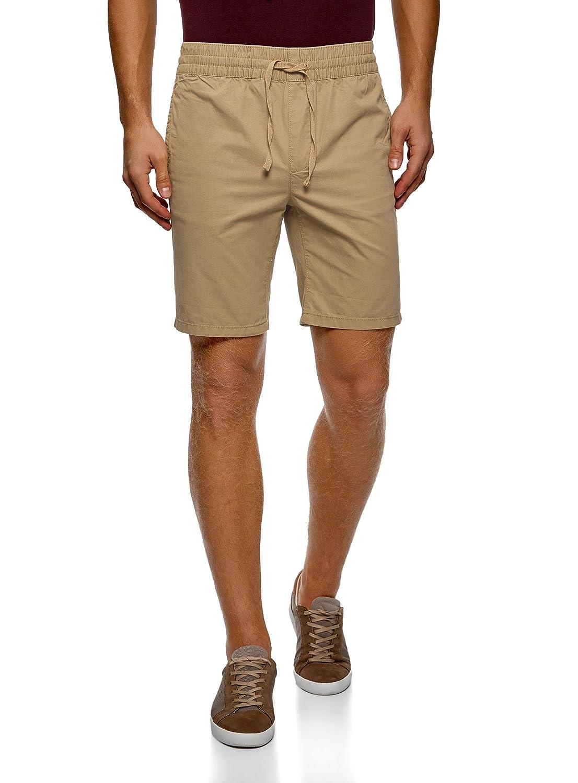oodji Ultra Uomo Shorts in Cotone con Elastico in Vita e Laccetti RIFICZECH s.r.o. 2L710020M