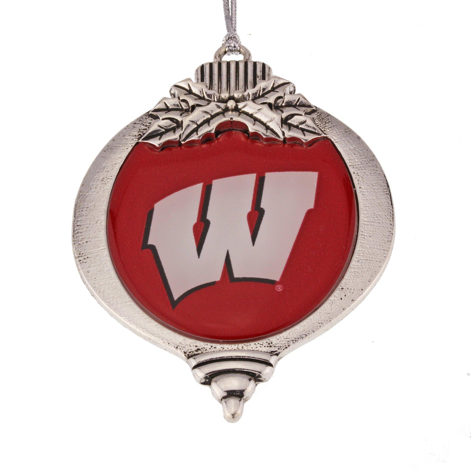 MadSportsStuff University of Wisconsin Badgers Christmas Ornament
